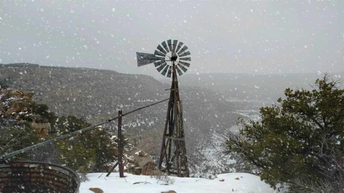 Windmill in Snow